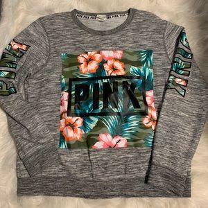 PINK Victoria's Secret Grey Camo Floral Sweatshirt
